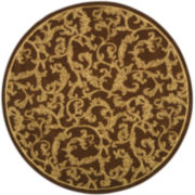 Courtyard Scrolls Indoor/Outdoor Round Rugs