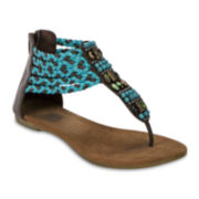 MUK LUKS® Sierra Braided Flat Sandals