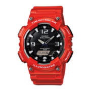 Casio® Tough Solar Sport Mens Red Multifunction Watch