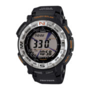 Casio® Pro Trek Mens Triple Sensor Black Digital Watch PRG260-1