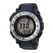 Casio® Pro Trek Mens Triple Sensor Blue Digital Watch PRG260-2
