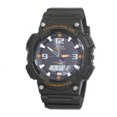 jcpenney.com | Casio® Tough Solar Sport Mens Black and Orange Multifunction Watch AQS18W-3AVCF