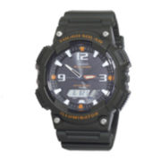 Casio® Tough Solar Sport Mens Black and Orange Multifunction Watch