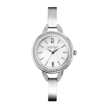 jcpenney.com | Caravelle New York® Womens Silver-Tone Bangle Watch  43L166