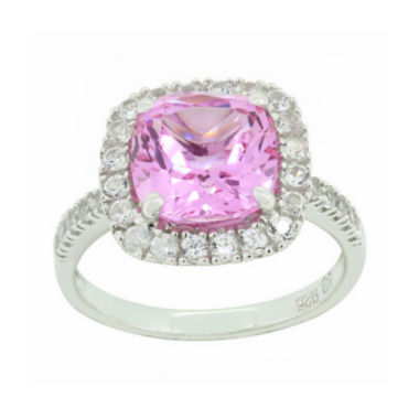 jcpenney.com | Lab-Created Pink & White Sapphire Sterling Silver Halo Ring