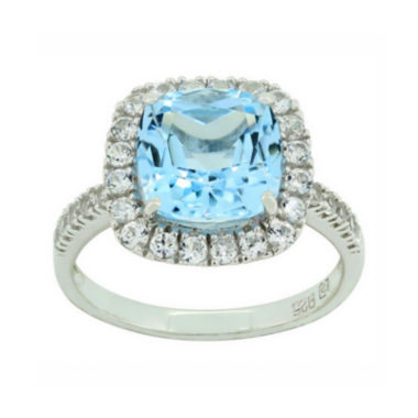 jcpenney.com | Blue Topaz & Lab-Created White Sapphire Sterling Silver Ring