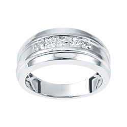 Mens 1 CT. T.W. Princess Diamond Band