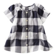 OshKosh B'gosh® Checked Poplin Swing Top - Girls 2t-4t