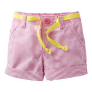 Carter's® Woven Striped Shorts - Girls 2t-4t