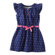 Carter's® Flutter-Sleeve Anchor-Print Dress - Girls 2t-4t