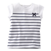 Carter's® Navy Striped Tee - Girls 5-6x