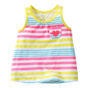 Carter's® Striped Flared Tank Top - Girls 5-6x