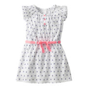 Carter's® Flutter-Sleeve Sailboat-Print Dress - Girls 5-6x