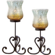 Pacifica Set of 2 Hurricane Candle Holders