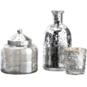 Cassoipeia Set of 3 Mercury Glass Containers