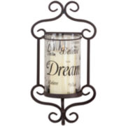 Hearth Wall Hurricane Candle Holder