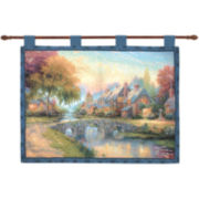 Cobblestone Bridge Wall Tapestry