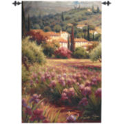 Iris Fields Wall Tapestry
