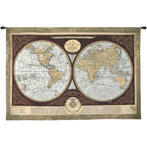 Art.com Map of the World Wall Tapestry