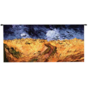 Wheatfield with Crows Wall Tapestry