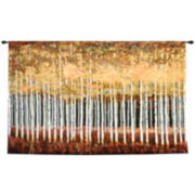 Golden Aspens Wall Tapestry