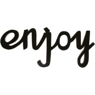 "jcpenney.com | ""Enjoy"" Wood Sign Wall Decor"
