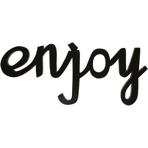 """Enjoy"" Wood Sign Wall Decor"