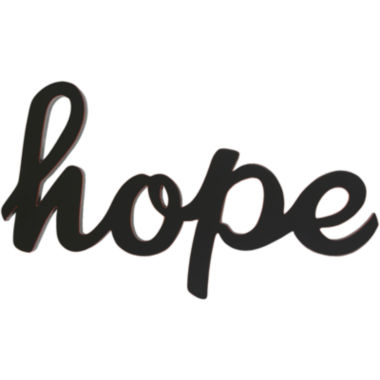 "jcpenney.com | ""Hope"" Wood Sign Wall Decor"