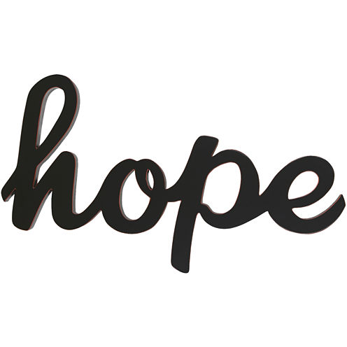 """Hope"" Wood Sign Wall Decor"