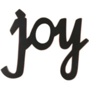 """Joy"" Wood Sign Wall Decor"