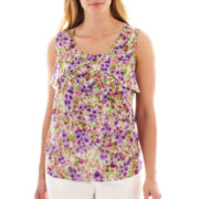 Liz Claiborne Sleeveless Layered Shell Top - Plus