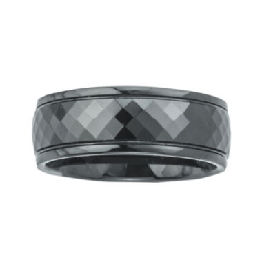jcpenney.com | Mens Ceramic Faceted Black Band Ring