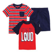 Okie Dokie® Tee, Graphic Tee or Cargo Shorts – Toddler Boys 2t-5t