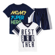 Okie Dokie® Graphic Tees or Athletic Shorts – Toddler Boys 2t-5t