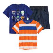 Okie Dokie® Tee, Graphic Tee or Denim Shorts – Toddler Boys 2t-5t