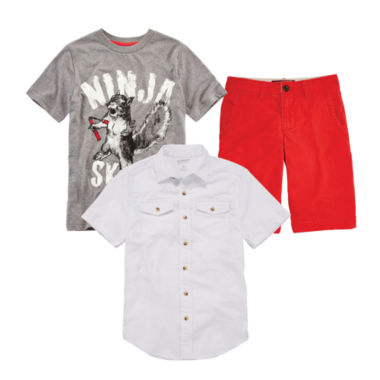 jcpenney.com | Arizona Woven Shirt, Graphic Tee or Solid Chino Shorts - Boys 8-20