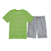 Arizona Striped Tee or Print Chino Shorts - Boys 8-20