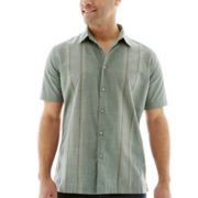 Van Heusen® Short-Sleeve Faux Linen Shirt