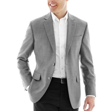 jcpenney.com | Stafford® Executive Grey Hopsack Blazer - Classic