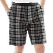 Jack Nicklaus® Flat-Front Plaid Shorts