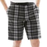 Jack Nicklaus® Flat-Front Plaid Shorts