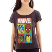 Marvel® Short-Sleeve Hero Profiles High-Low T-Shirt