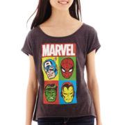 Marvel® Short-Sleeve Hero Profiles High-Low T-Shirt