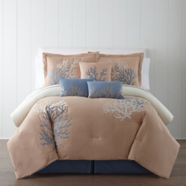 jcpenney.com | Panama Jack® Coral Sea 7-pc. Comforter Set