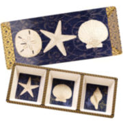 Certified International Coastal Moonlight Melamine 2-pc. Appetizer Serving Set