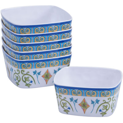 Certified International Tuscany Melamine Set of 6 Ice Cream Bowls