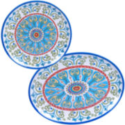 Certified International Tuscany Melamine 2-pc. Serving Platter Set