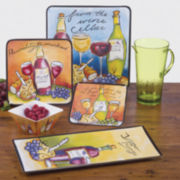 Certified International Wine Picnic Melamine Dinnerware Collection