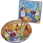 Certified International Wine Picnic Melamine 2-pc. Platter Set