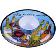 Certified International Wine Picnic Melamine 2-pc. Chip and Dip Set
